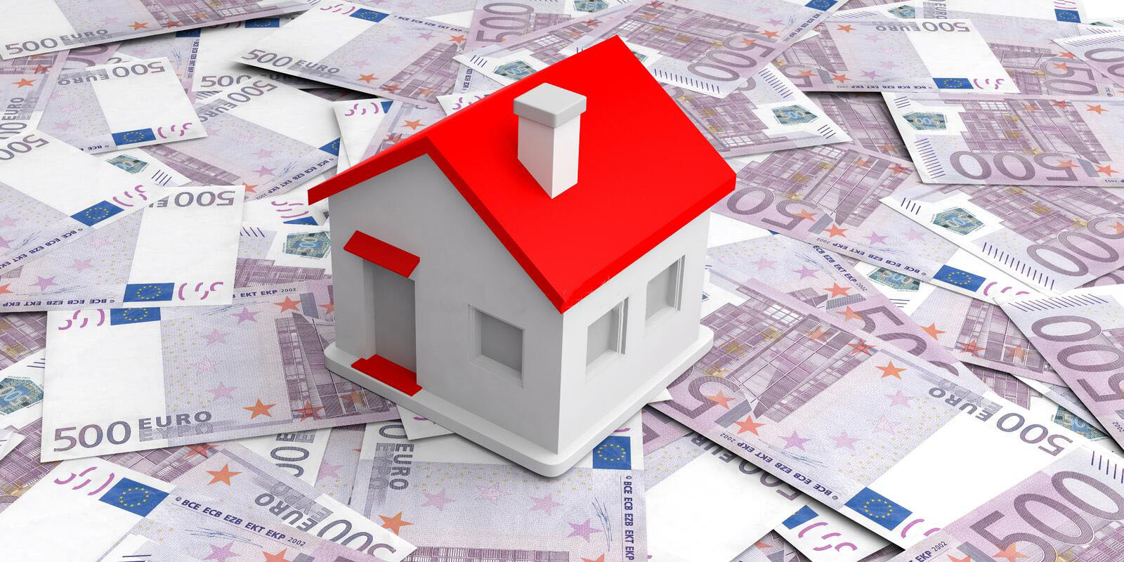 d-rendering-small-house-euros-banknotes-background-77361783